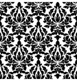 black colored floral arabesque seamless pattern vector image vector image