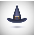 Black witch hat for Halloween vector image