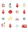 Blood Donor Icons Flat vector image