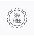 BPA free icon Bisphenol plastic sign vector image vector image