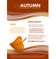 brown seasonal autumn document template with leaf vector image vector image