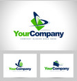 business logos vector image vector image