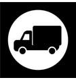 car truck icon vector image vector image