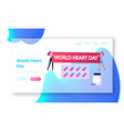 cardiology disease prevention landing page vector image
