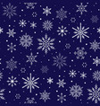 christmas pattern snowflake background seamless vector image vector image