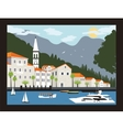 City in Montenegro vector image vector image