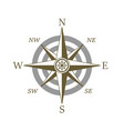 compass icon wind rose vector image