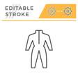coveralls editable stroke line icon vector image