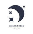 crescent moon icon on white background simple vector image vector image