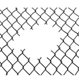 Cut wire fence vector image vector image