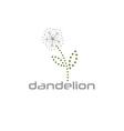 cyber dandelion design template vector image vector image