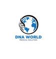dna world logo designs for health service vector image