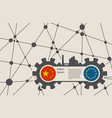 economic relations between china and europe vector image vector image