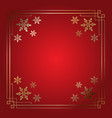 elegant christmas snowflake border vector image vector image