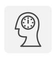 emotion head icon vector image