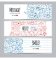 faces design template vector image