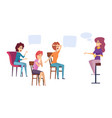 female discussion club women group therapy vector image vector image