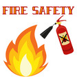 fire safety poster isolated on white background vector image