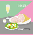 food meal dinner cook dairy eat drink menu vector image