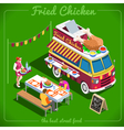 Food Truck 10 Isometric Vehicles vector image vector image