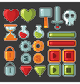 game design objects vector image vector image