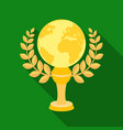 golden planet with a wreaththe trophy for the vector image