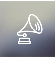 Gramophone thin line icon vector image vector image