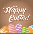 happy easter card cute egg decorative vector image vector image