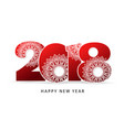 happy new year 2018 theme red vector image vector image