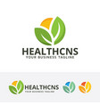 health consult logo design vector image vector image