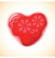 Heart red shape on colorful background vector image vector image