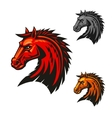 Horse stallion head emblem icons vector image vector image