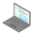 laptop online icon isometric style vector image vector image