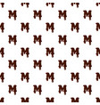 letter m from latin alphabet made of chocolate vector image vector image
