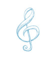 music note draw vector image