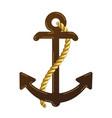 nautical anchor logo icon maritime sea ocean boat vector image vector image