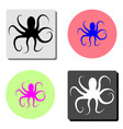 octopus flat icon vector image vector image