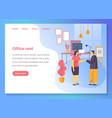 office rent agency business service website banner vector image vector image