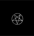 Pentacle- Religious symbol of satanism vector image vector image