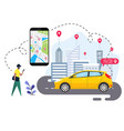 people are ordering online transportation vector image