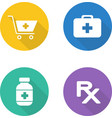 Pharmacy flat design icons set vector image vector image