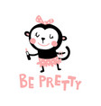 preety monkey vector image vector image
