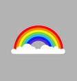 rainbow cloud icon vector image vector image