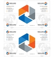 research business card light vector image vector image