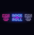 rock and roll logo in neon style rock music neon vector image vector image