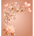 Rose with hearts vector image vector image