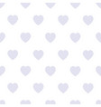 seamless background with gray hearts on a white vector image vector image