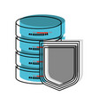 server hosting storage and protection shield in vector image