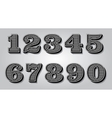 set stylized digits for design certification vector image vector image