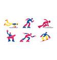set winter sport activities skeleton skating vector image vector image